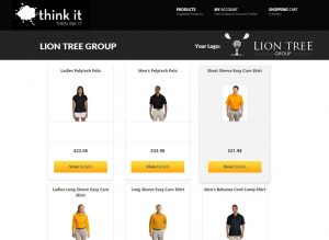 Think It Team Apparel Web Stores